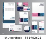 corporate identity template... | Shutterstock .eps vector #551902621