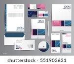 corporate identity template... | Shutterstock .eps vector #551902621
