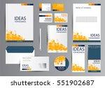 corporate identity template... | Shutterstock .eps vector #551902687