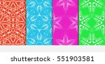 set of seamless decorative... | Shutterstock .eps vector #551903581