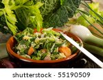 slice vegetables for soup | Shutterstock . vector #55190509