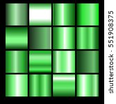 Collection of green backgrounds. Set of green gradients.Vector illustration