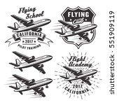 flying school set of vector... | Shutterstock .eps vector #551909119
