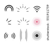 signal icons vector set... | Shutterstock .eps vector #551911759