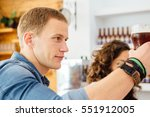 side view of handsome man with... | Shutterstock . vector #551912005