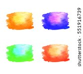 transition colors watercolor... | Shutterstock .eps vector #551916739