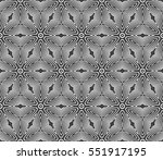 damask floral seamless pattern... | Shutterstock .eps vector #551917195