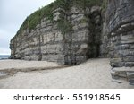 Rocky Cliff Face With A Cave ...