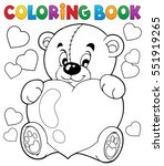 coloring book valentine theme 9 ... | Shutterstock .eps vector #551919265
