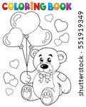 Coloring Book Valentine Theme ...