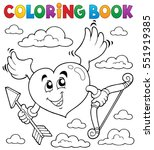 coloring book valentine theme 6 ... | Shutterstock .eps vector #551919385