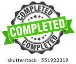 completed. stamp. sticker. seal.... | Shutterstock .eps vector #551922319