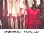 female mannequin in coat in... | Shutterstock . vector #551922664