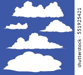 cloud vector   icon background | Shutterstock .eps vector #551925421