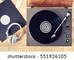 turntable vinyl record player ... | Shutterstock . vector #551926105