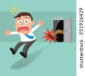 boss kicks out his employee ... | Shutterstock .eps vector #551926429