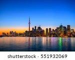 toronto city skyline at night ...   Shutterstock . vector #551932069