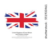 flag of the united kingdom of... | Shutterstock .eps vector #551933461