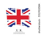 flag of the united kingdom of... | Shutterstock .eps vector #551933584