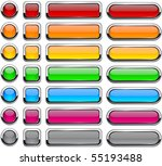 blank buttons with chrome... | Shutterstock .eps vector #55193488