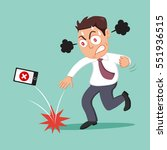 angry businessman throwing his...