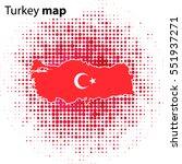 turkey map icon vector... | Shutterstock .eps vector #551937271