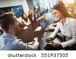entrepreneurs and business... | Shutterstock . vector #551937505