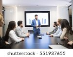 business meeting and... | Shutterstock . vector #551937655