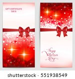 two bright vertical valentine... | Shutterstock .eps vector #551938549