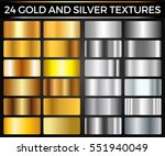 vector set of gold and silver... | Shutterstock .eps vector #551940049