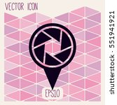 map pointer flat icon  vector... | Shutterstock .eps vector #551941921