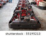 row of carts  ready to start | Shutterstock . vector #55195213