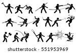 man using medieval war weapons... | Shutterstock .eps vector #551953969