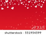 heart and love text  valentine... | Shutterstock .eps vector #551954599