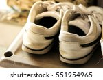old shoes   classic   soft focus | Shutterstock . vector #551954965