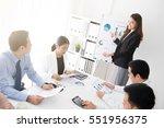 asian business woman presenting ... | Shutterstock . vector #551956375