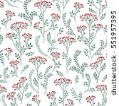 floral white pattern with... | Shutterstock .eps vector #551957395