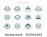 vector abstract illustration... | Shutterstock .eps vector #551961601