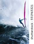 the waves of a surfer passing... | Shutterstock . vector #551965321