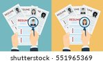 man and woman resume with... | Shutterstock .eps vector #551965369