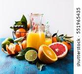 citrus vitamin juice  healthy...   Shutterstock . vector #551965435