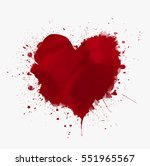 Watercolor Painted Vector Red...
