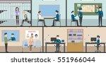 police station interior set... | Shutterstock .eps vector #551966044