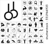 set of sports icons. contains... | Shutterstock .eps vector #551966935