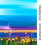 abstract colorful oil painting... | Shutterstock . vector #551968561