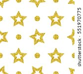 seamless pattern from gold... | Shutterstock .eps vector #551970775
