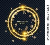 the golden shining banner. a... | Shutterstock .eps vector #551971315