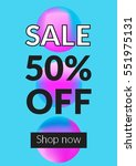 social media sale banner and... | Shutterstock .eps vector #551975131