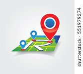 route map logo sign symbol icon | Shutterstock .eps vector #551979274
