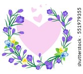 vector illustration with frame... | Shutterstock .eps vector #551979355